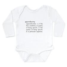 Specificity Long Sleeve Infant Bodysuit