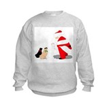 Pugs with Santa Sweatshirt