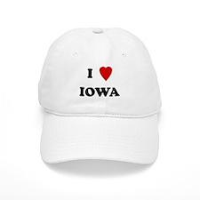 I Love Iowa Baseball Cap