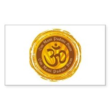 Tibetan Mantra Om Symbol Sticker (Rectangle 50 pk)