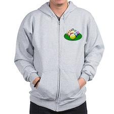 9-ball rack Zip Hoodie