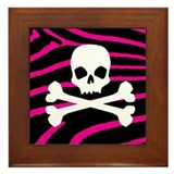 Goth Skull Framed Tile