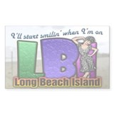 Smilin' on the Island... Rectangle Decal