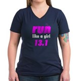 run like a girl 13.1 Shirt