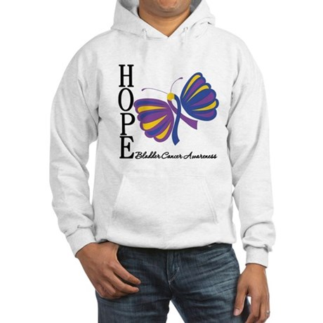 Butterfly Hope Bladder Cancer Hooded Sweatshirt