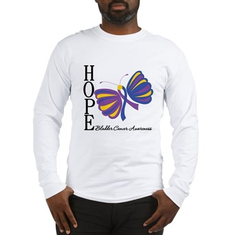Butterfly Hope Bladder Cancer Long Sleeve T-Shirt