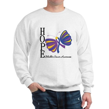 Butterfly Hope Bladder Cancer Sweatshirt