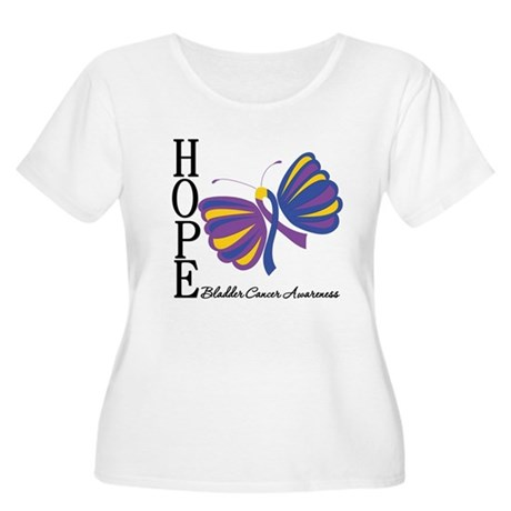 Butterfly Hope Bladder Cancer Women's Plus Size Sc