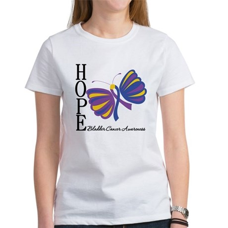 Butterfly Hope Bladder Cancer Women's T-Shirt