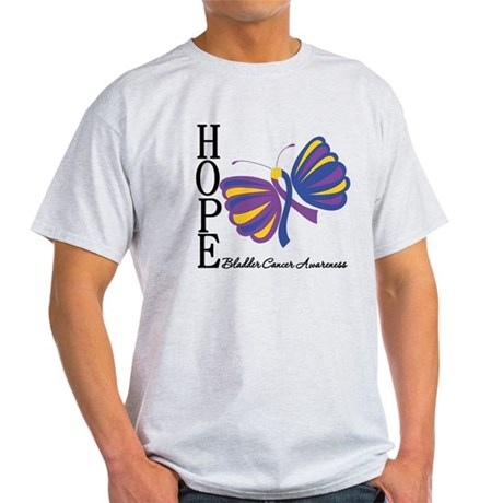 Butterfly Hope Bladder Cancer Light T-Shirt