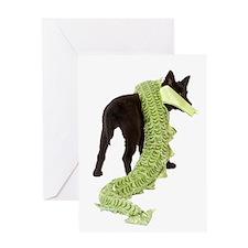 Green Dragon Puppy Greeting Card
