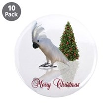 "cockatoo christmas 3.5"" Button (10 pack)"