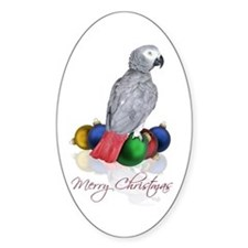 african grey christmas Decal