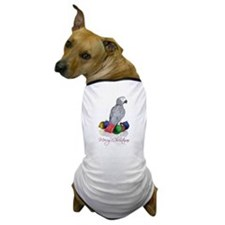 african grey christmas Dog T-Shirt