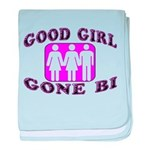Good Girl Gone Bi baby blanket