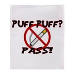 Puff Puff Pass Throw Blanket