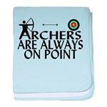Archers On Point baby blanket