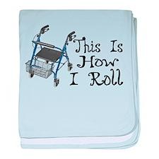 How I Roll Walker baby blanket
