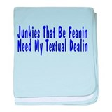Textual Dealin baby blanket