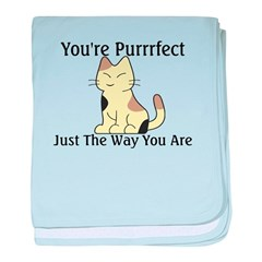 You're Purrrfect baby blanket
