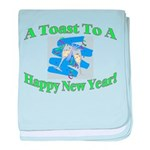 New Year's Toast baby blanket