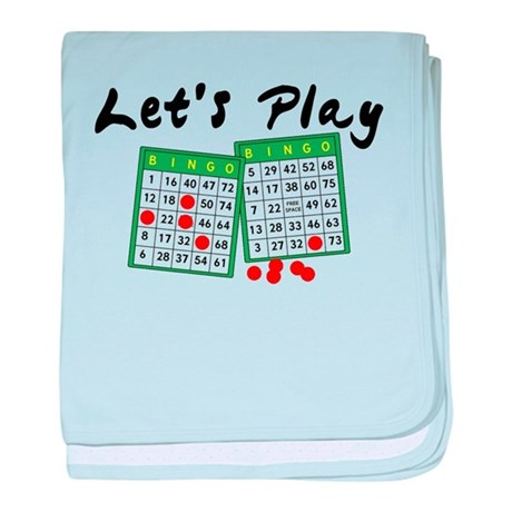 Let's Play Bingo baby blanket