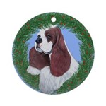 Christmas Cocker Spaniel Ornament (Round)