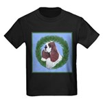 Christmas Cocker Spaniel Kids Dark T-Shirt