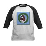 Christmas Cocker Spaniel Kids Baseball Jersey
