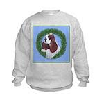 Christmas Cocker Spaniel Kids Sweatshirt
