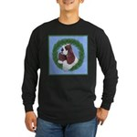 Christmas Cocker Spaniel Long Sleeve Dark T-Shirt