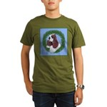 Christmas Cocker Spaniel Organic Men's T-Shirt (da