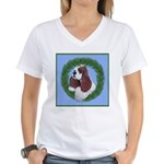 Christmas Cocker Spaniel Women's V-Neck T-Shirt