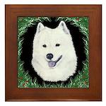 Christmas Samoyed Framed Tile