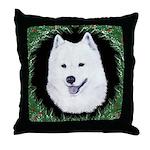 Christmas Samoyed Throw Pillow