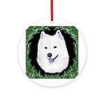Christmas Samoyed Ornament (Round)