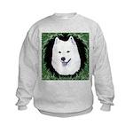 Christmas Samoyed Kids Sweatshirt