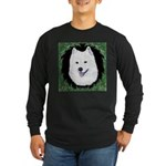 Christmas Samoyed Long Sleeve Dark T-Shirt