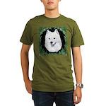 Christmas Samoyed Organic Men's T-Shirt (dark)