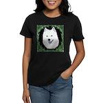 Christmas Samoyed Women's Dark T-Shirt