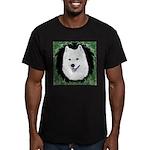Christmas Samoyed Men's Fitted T-Shirt (dark)