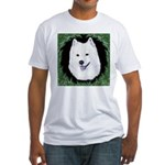 Christmas Samoyed Fitted T-Shirt