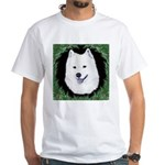 Christmas Samoyed White T-Shirt