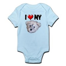 I Love My Schnoodle Infant Bodysuit