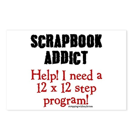 12 x 12 Step Program Postcards (Package of 8)