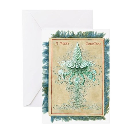 Old Green Tree Greeting Card