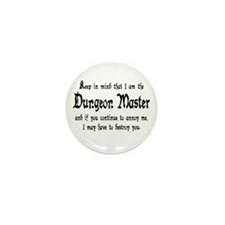 Dungeon Master - Mini Button (10 pack)