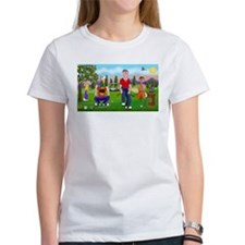 Frustrated golfers cartoon Tee