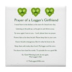 Prayer Logger's Girlfriend Tile Coaster