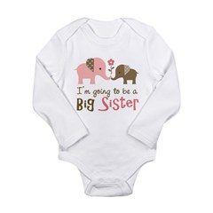 Big Sister to be - Mod Elephant Long Sleeve Infant